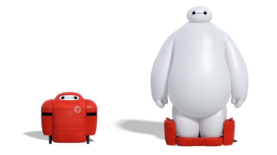 "Baymax robot from the movie ""Big Hero 6"" (trailer)"