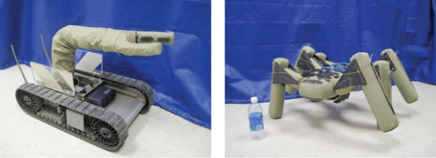 Inflatable Manipulator and Inflatable Legged Robot by iRobot